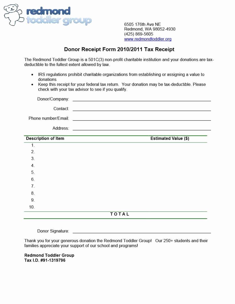 40 Donation Receipt Templates & Letters [goodwill Non Profit]