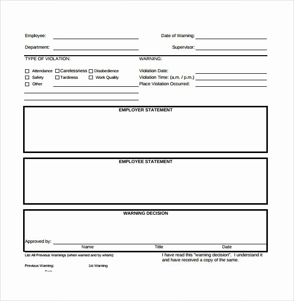 40 Employee Write Up form Templates [word Excel Pdf]