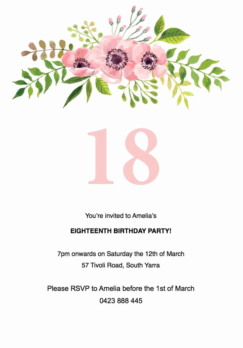 40 Free 18th Birthday Invitation Templates Birthday