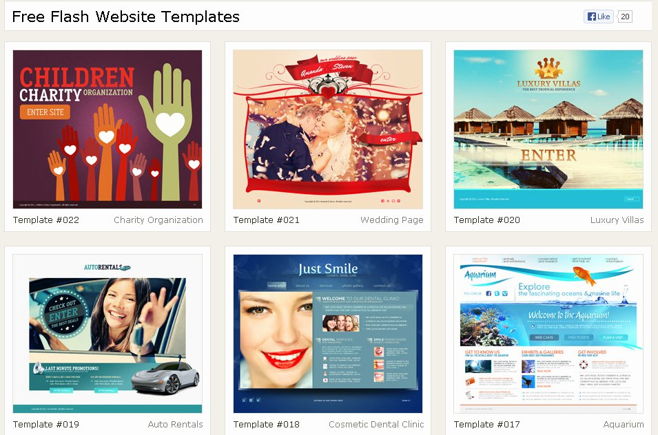 40 Free High Quality Flash Web Templates – Pelfusion