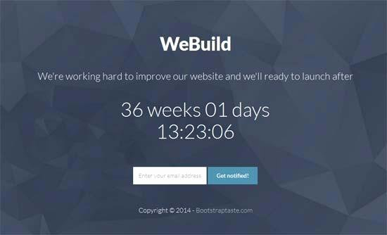 40 Free HTML Ing soon Maintenance Under