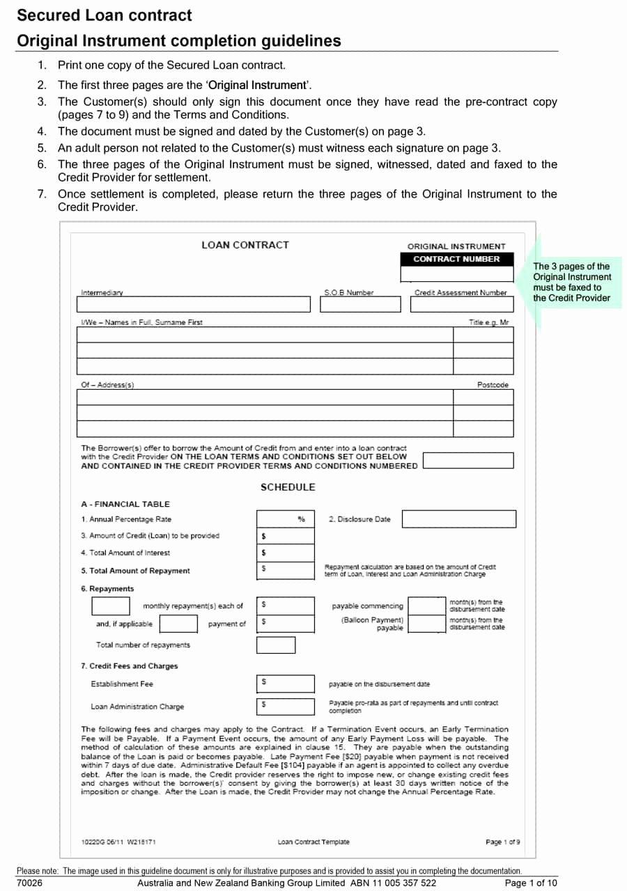 40 Free Loan Agreement Templates [word & Pdf] Template Lab