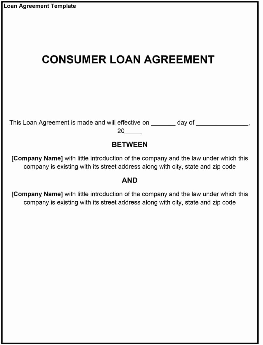 40 Free Loan Agreement Templates [word & Pdf] Template Lab