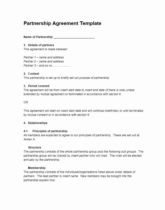 40 Free Partnership Agreement Templates Business
