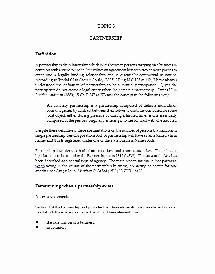 40 Free Partnership Agreement Templates Business