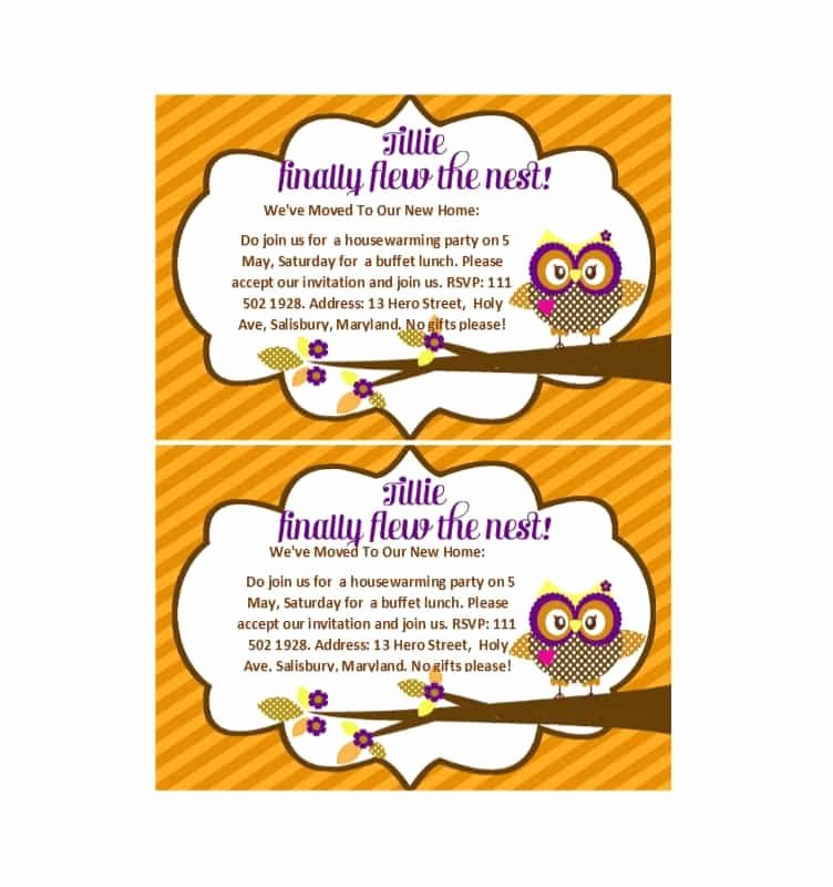photo relating to Free Printable Housewarming Invitations called 40 Cost-free Printable Housewarming Occasion Invitation Templates