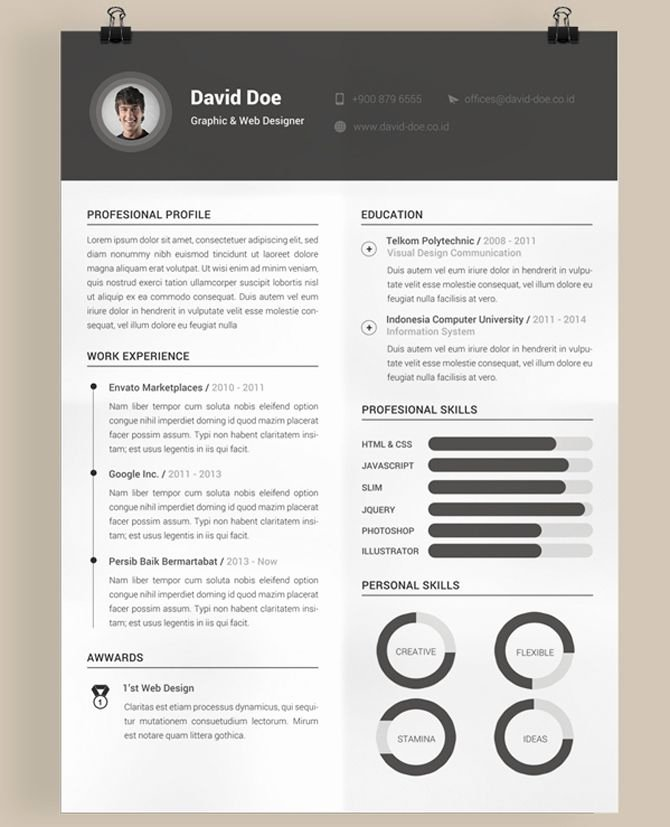 40 Free Printable Resume Templates 2018 To Get A Dream Job Modern