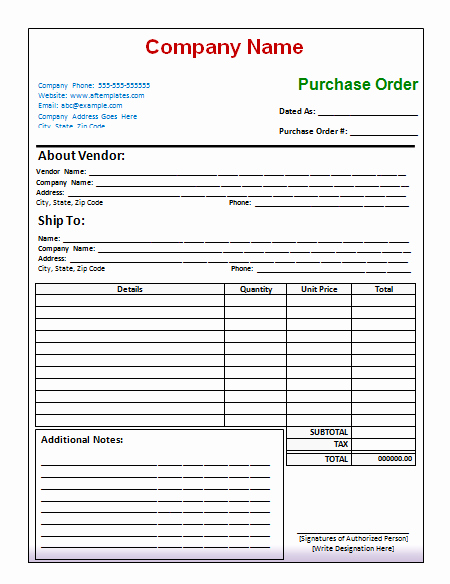 40 Free Purchase order Templates forms