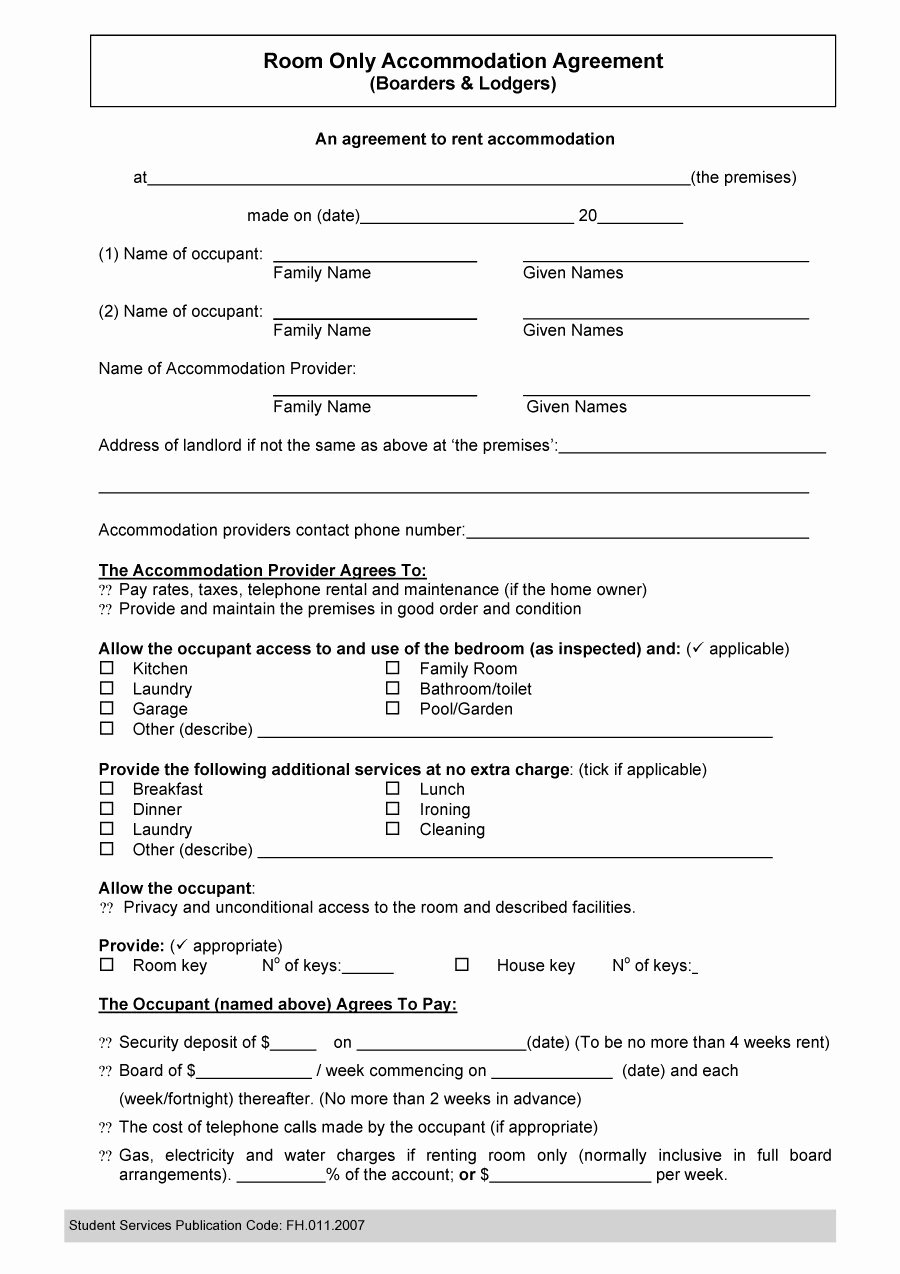 40 Free Roommate Agreement Templates & forms Word Pdf