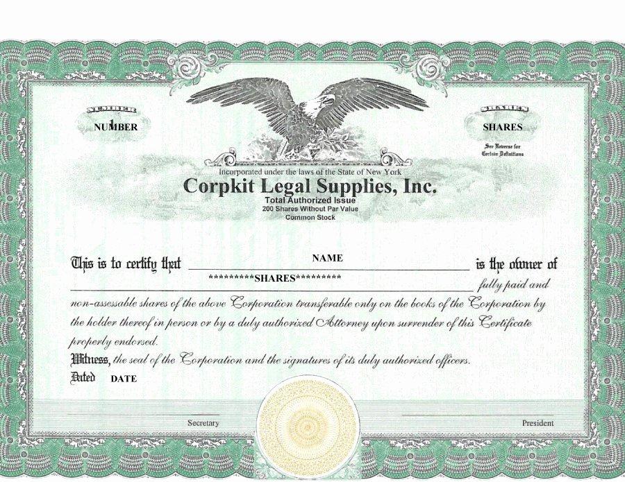 40 Free Stock Certificate Templates Word Pdf