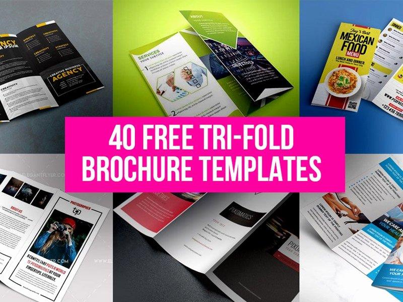 40 Free Tri Fold Brochure Templates Free Psd