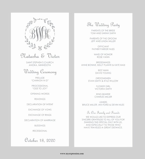 40 Free Wedding Templates In Microsoft Word format