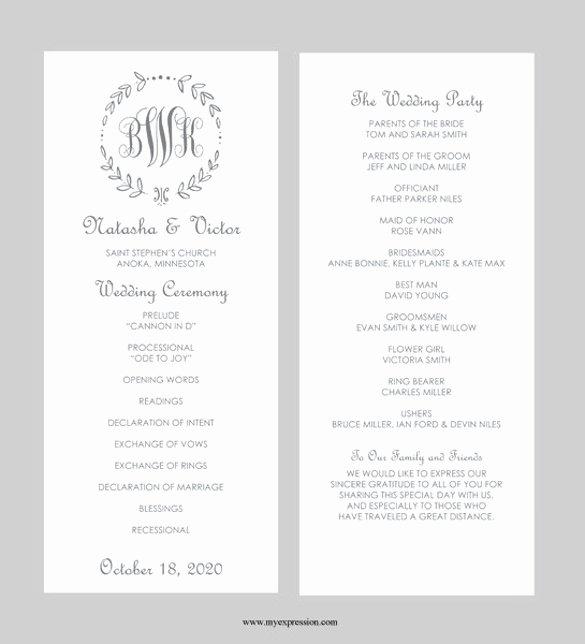 40 Free Wedding Templates In Microsoft Word format