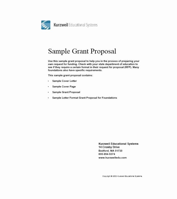 40 Grant Proposal Templates [nsf Non Profit Research