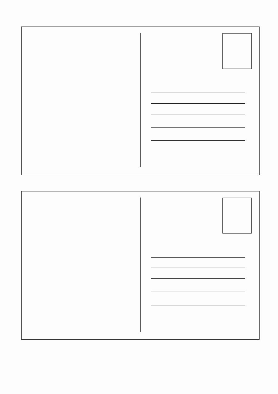 40 Great Postcard Templates & Designs [word Pdf