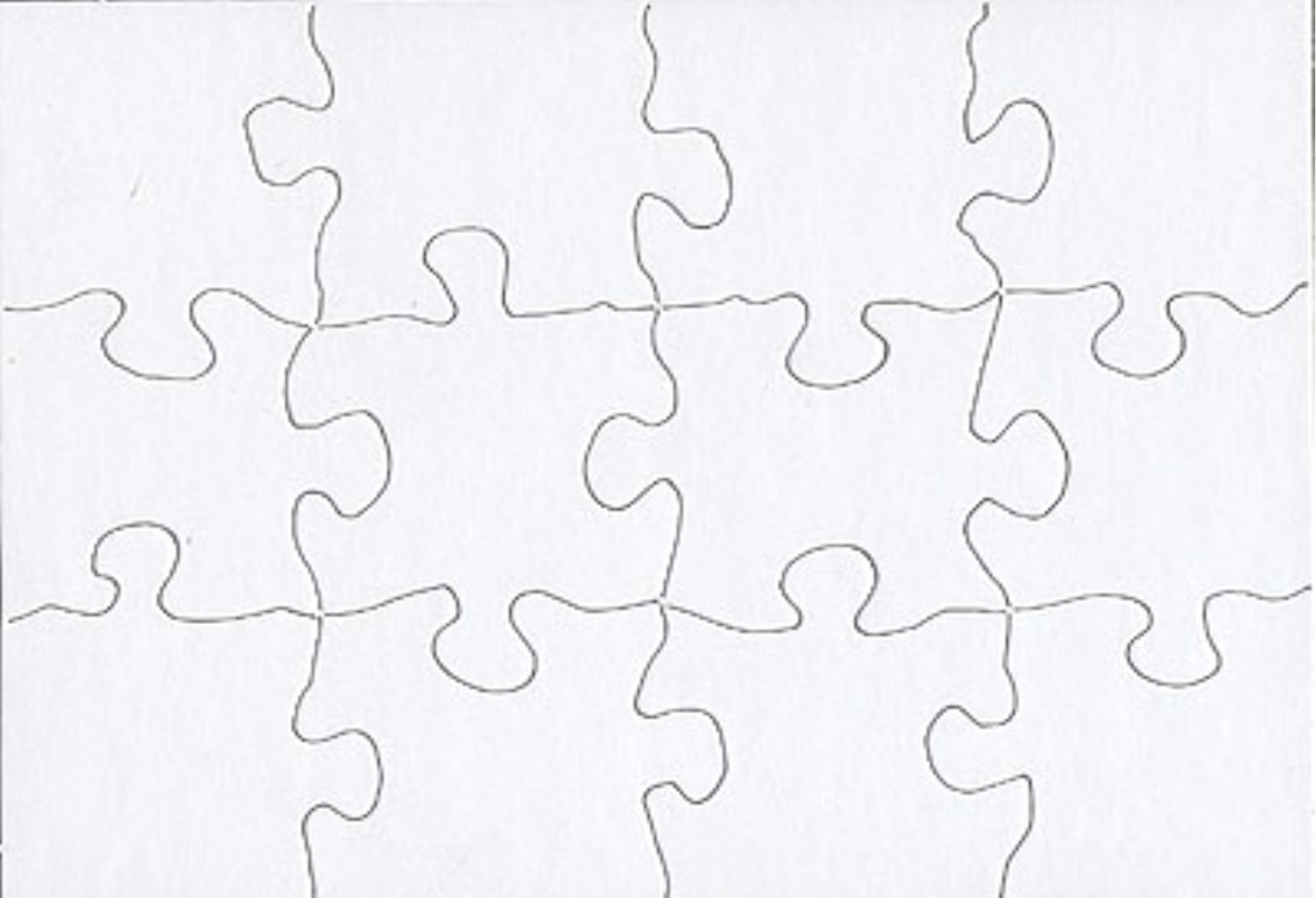 40 Jigsaw Puzzle Template Printable Puzzle Template