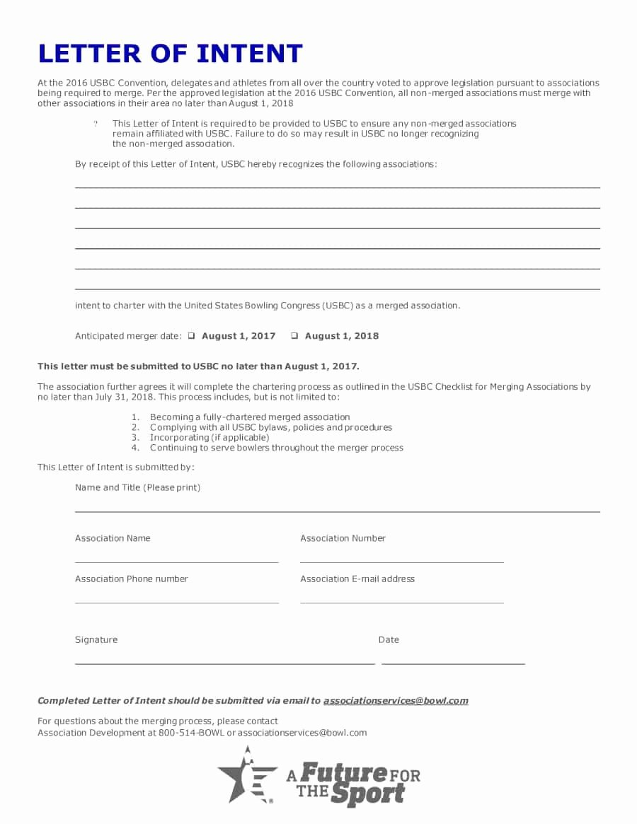 40 Letter Of Intent Templates & Samples [for Job School