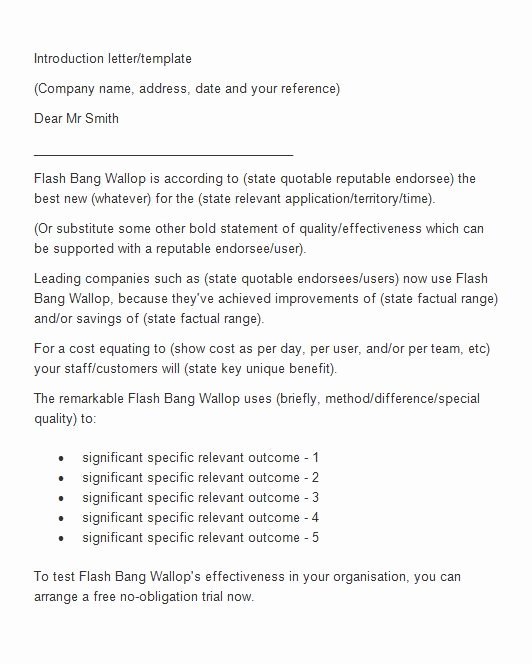 40 Letter Of Introduction Templates & Examples