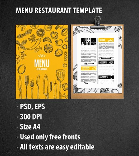 40 Menu Design Templates – Free Sample Example format