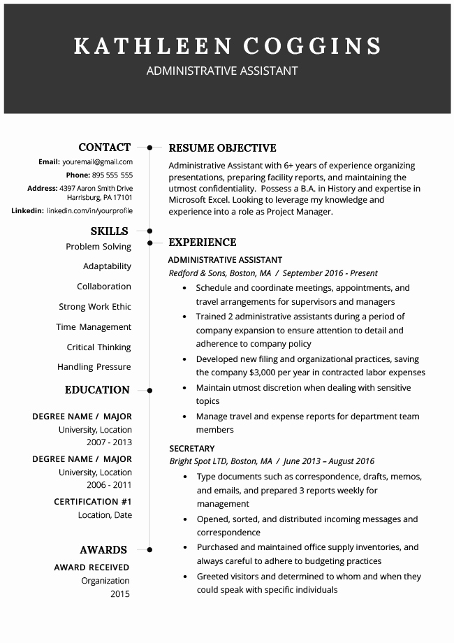 40 Modern Resume Templates Free to Download