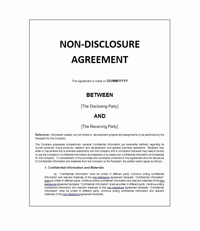 40 Non Disclosure Agreement Templates Samples & forms