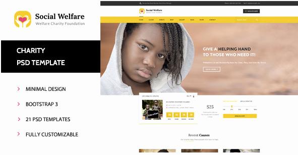 40 Nonprofit Psd Website Template