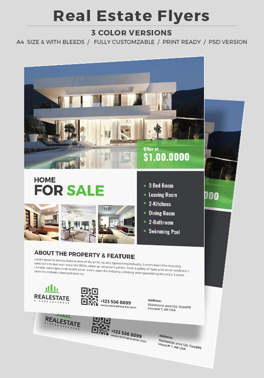 40 Professional Real Estate Flyer Templates themekeeper
