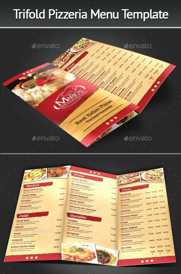 40 Psd & Indesign Food Menu Templates for Restaurants