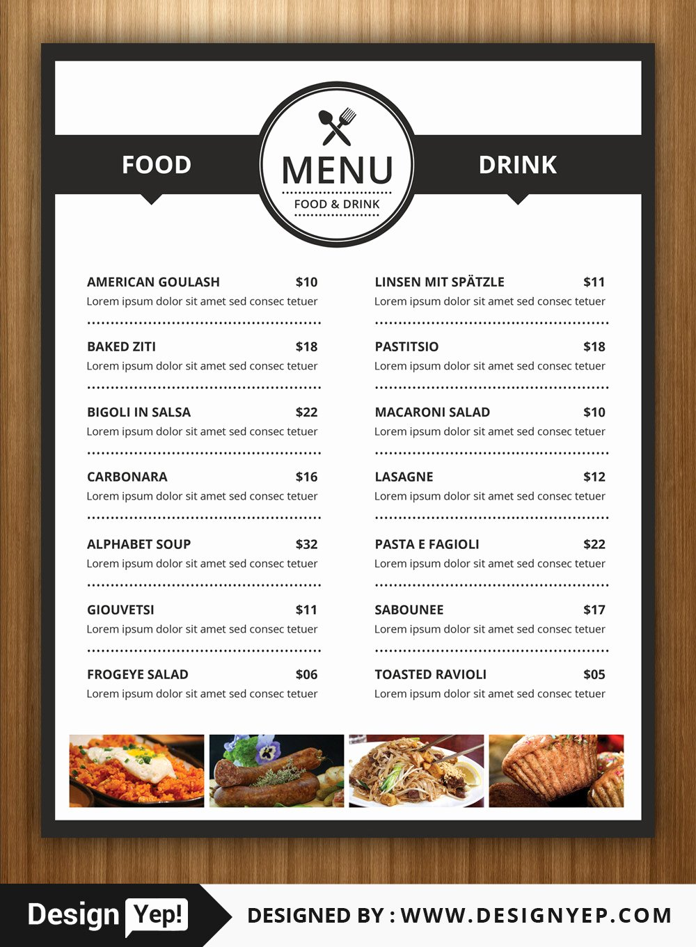 40 Restaurant Food Menu Design Psd Templates