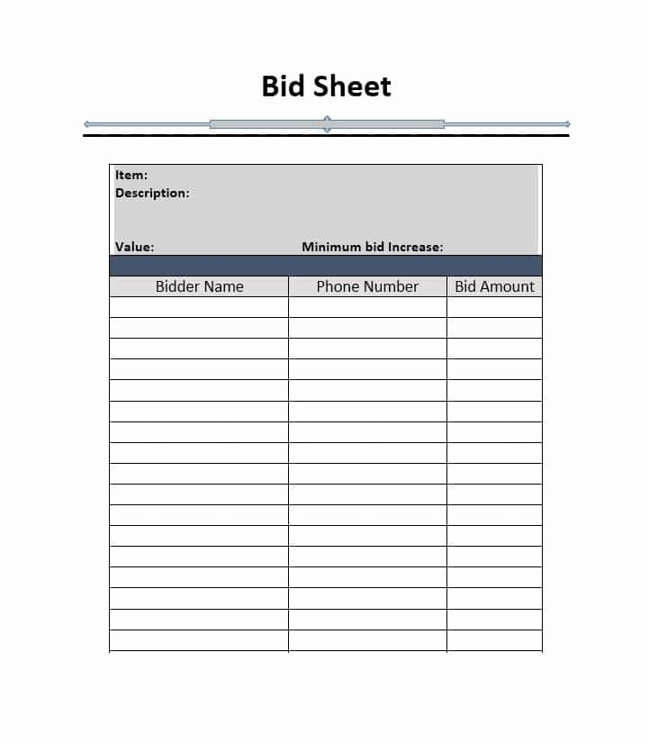 40 Silent Auction Bid Sheet Templates [word Excel