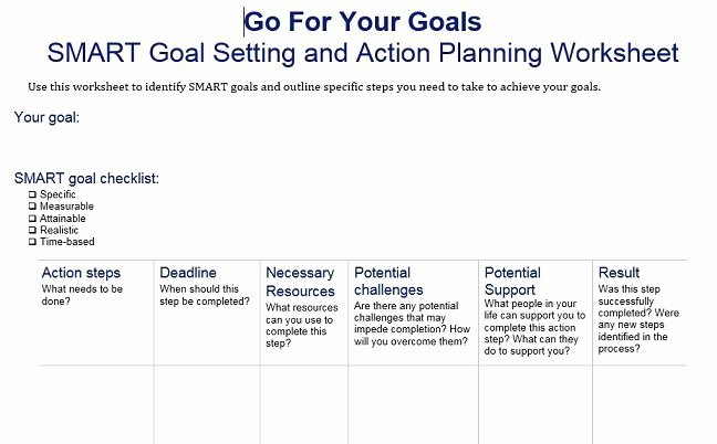 40 Smart Goals Templates Ready to Use Excel Pdf Word