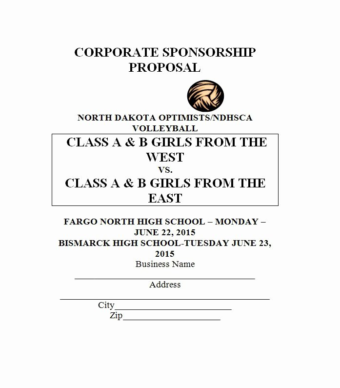 40 Sponsorship Letter & Sponsorship Proposal Templates