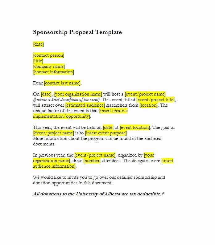 40 Sponsorship Letter & Sponsorship Proposal Templates