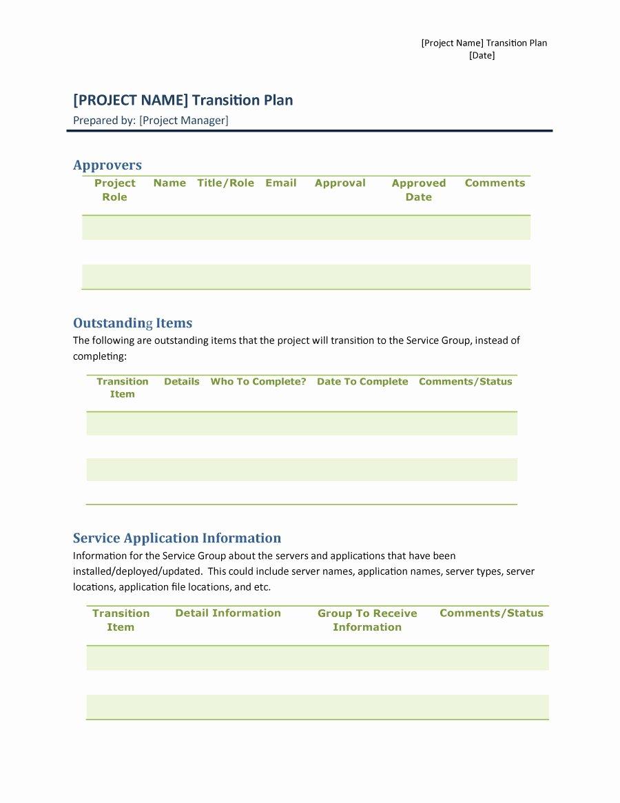 40 Transition Plan Templates Career Individual