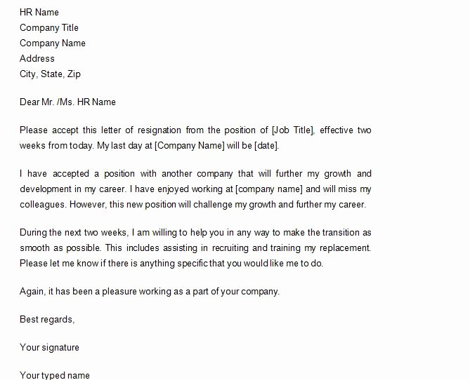 40 Two Weeks Notice Letters & Resignation Letter Samples
