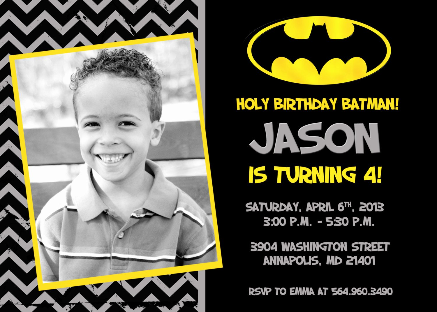 40th Birthday Ideas Batman Birthday Invitation Templates Free