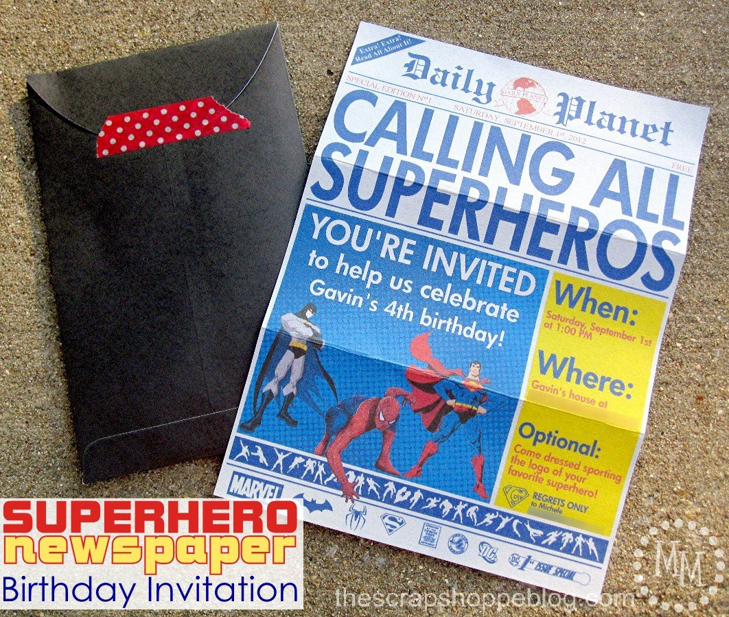 40th Birthday Ideas Birthday Invitation Template Superhero
