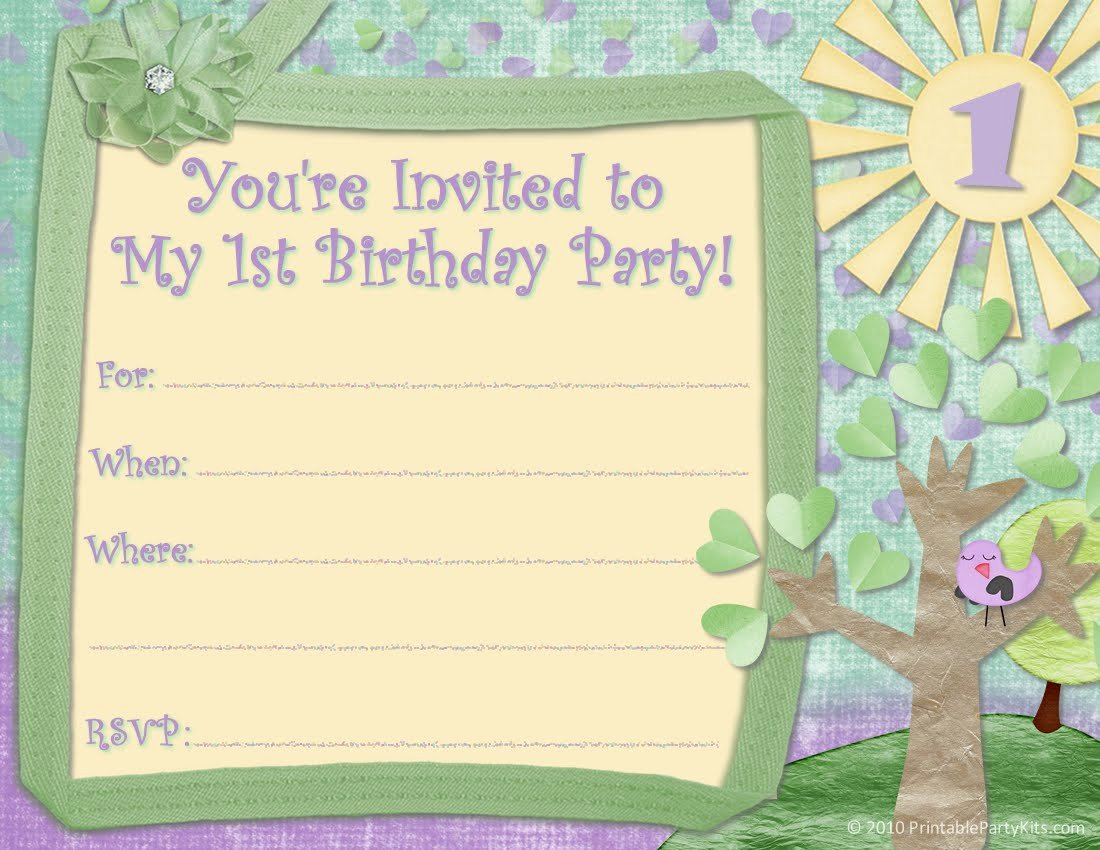 40th Birthday Ideas Child Birthday Invitation Templates Free