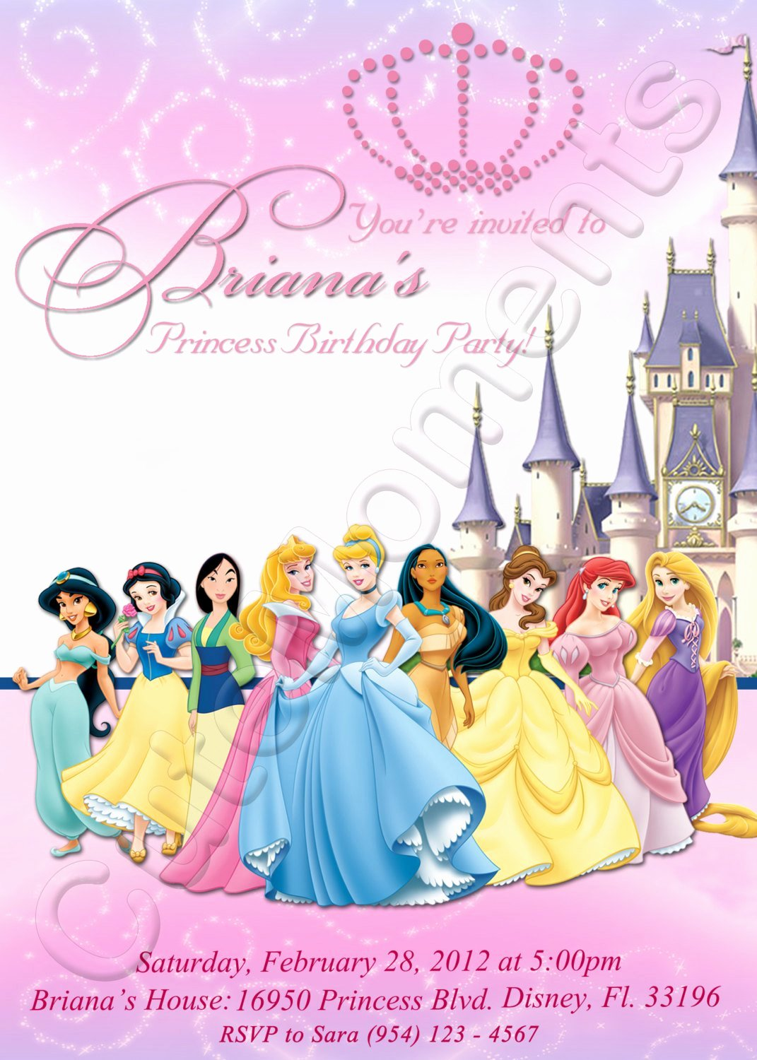 40th Birthday Ideas Disney Princess Birthday Party