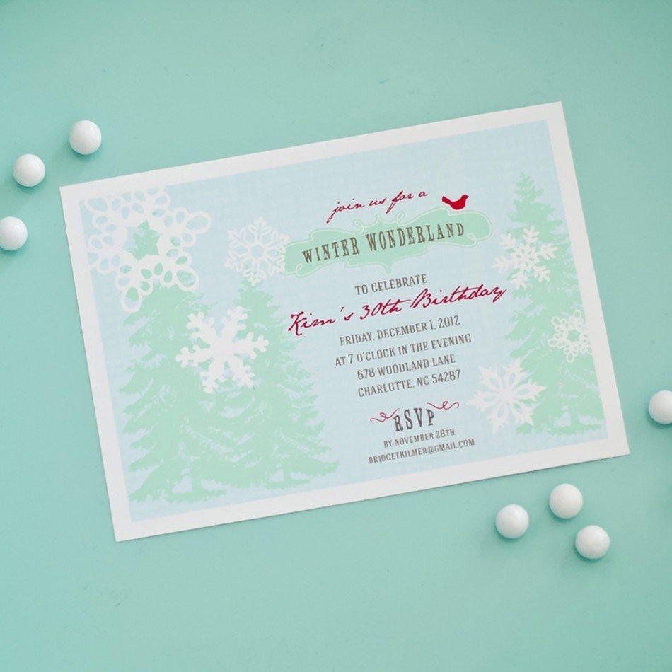 40th Birthday Ideas Free Winter Birthday Invitation Templates