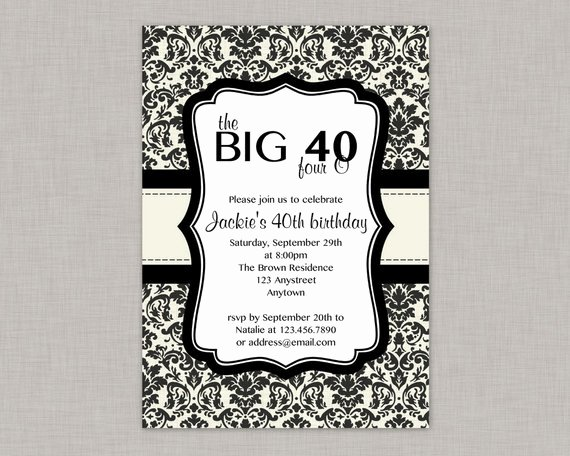 40th Birthday Invitation Free Printable – orderecigsjuicefo
