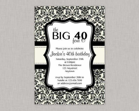 40th Birthday Invitation Free Printable Orderecigsjuicefo