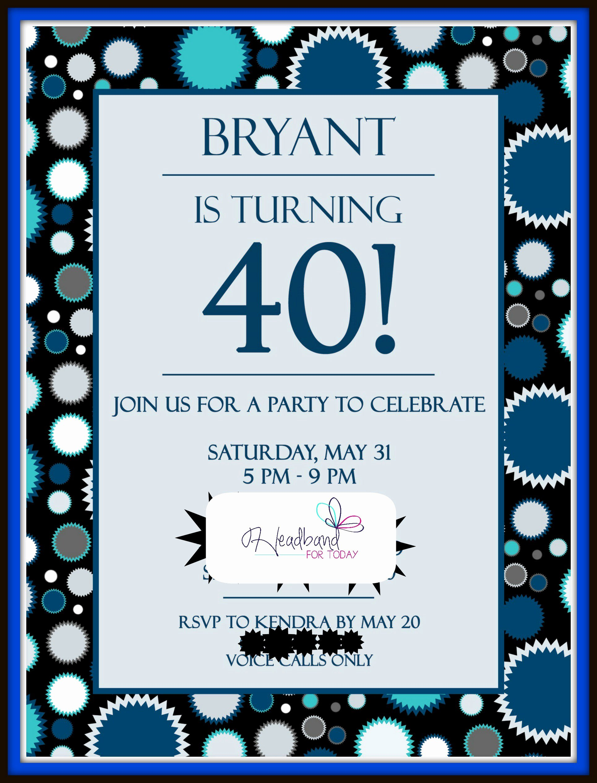 40th Birthday Invitations 40th Birthday Invitations