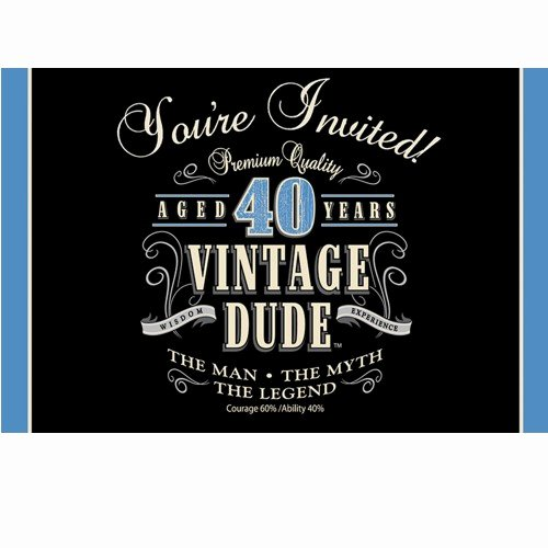 40th Birthday Party Invitations Templates