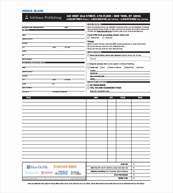 41 Blank order form Templates Pdf Doc Excel