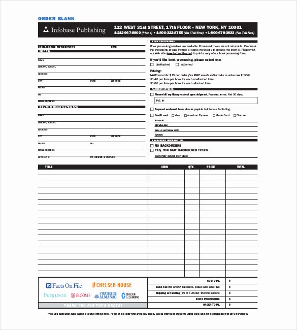 41 Blank order form Templates Pdf Doc Excel