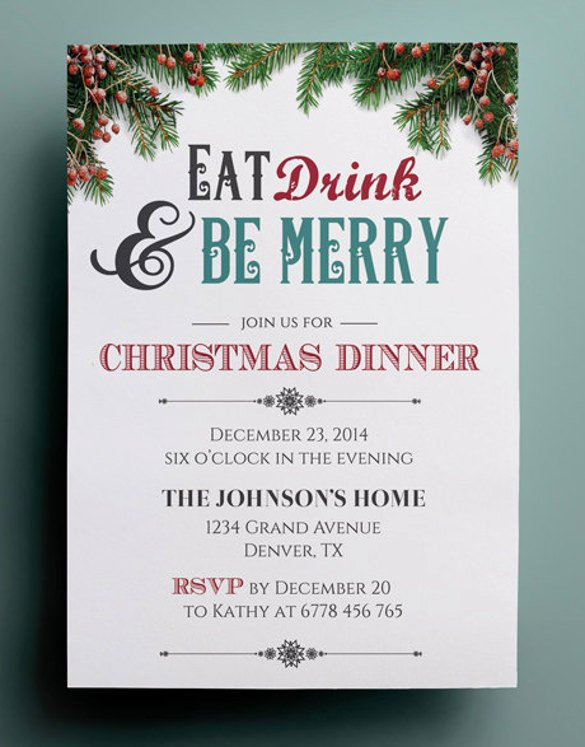 41 Dinner Invitation Templates Psd Ai Word