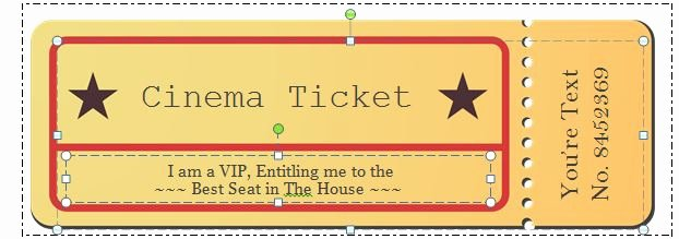 41 Free Editable Raffle & Movie Ticket Templates Free