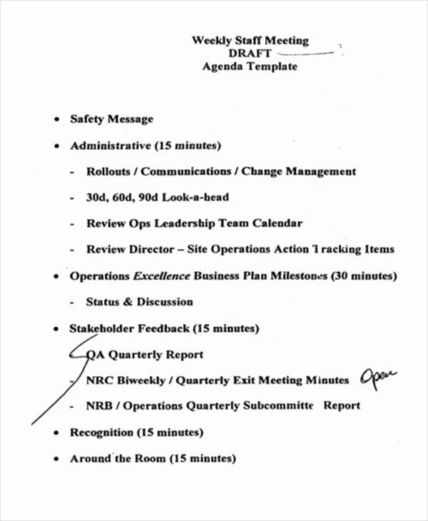 41 Meeting Agenda Templates