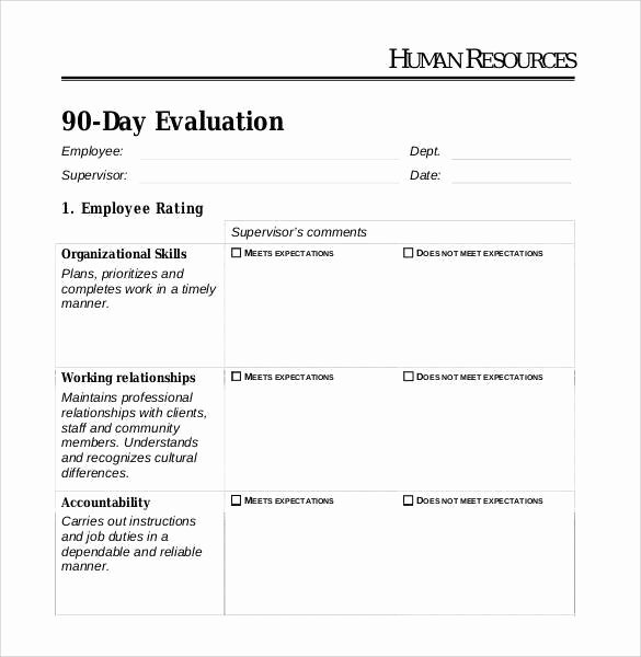 41 Sample Employee Evaluation forms to Download